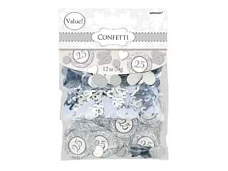 Amscan Collection Anniversary Confetti 1.2 oz Value Pack 25th