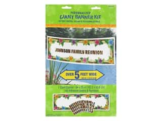 Amscan Collection Summer Luau Banner Giant Personalized 64 in. x 20 in. Kit