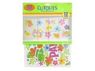 Amscan Collection Summer Hibiscus Cutouts Value Pack 12 pc