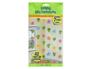 Amscan Collection Summer Hibiscus String Decorations 7 ft. Foil 6 pc