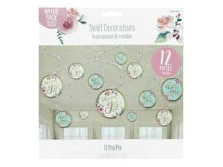 Amscan Collection Mint To Be Swirl Decorations Value Pack 12 pc