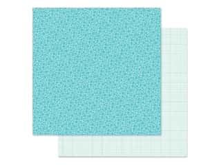 Doodlebug Collection Petite Prints Paper 12 in. x 12 in. Floral/Graph Swimming Pool (25 pieces)
