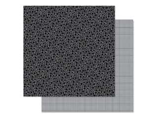 Doodlebug Collection Petite Prints Paper 12 in. x 12 in. Floral/Graph Beetle Black (25 pieces)