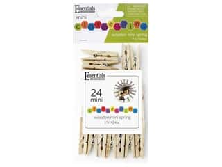 Essentials By Leisure Arts Wood Clothespins Large Spring 1.75 in. 24 pc