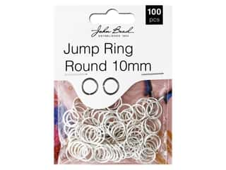 John Bead Findings Must Have Findings Jump Ring Round 10 mm Silver 100 pc