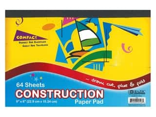 Bazic Basics Construction Paper Pad 6 in. x 9 in. 64 ct