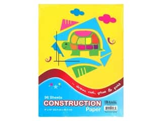 craft & hobbies: Bazic Basics Construction Paper Pad 9 in. x 12 in. 96 ct