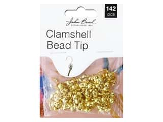 John Bead Findings Must Have Findings Clamshell Bead Tip Gold 142 pc