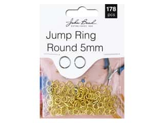 John Bead Findings Must Have Findings Jump Ring Round 5 mm Gold 178 pc