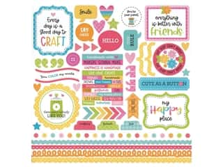 Doodlebug Collection Cute & Crafty Sticker This & That (12 pieces)