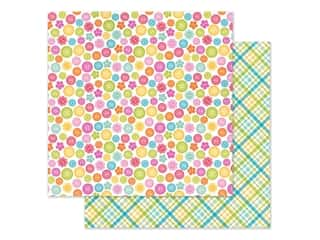 Doodlebug Collection Cute & Crafty Paper 12 in. x 12 in. Cute As A Button (25 pieces)