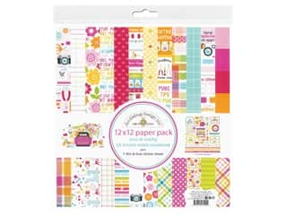Doodlebug Collection Cute & Crafty Paper Pack 12 in. x 12 in.