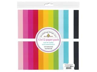 Doodlebug Collection Cute & Crafty Cardstock 12 in. x 12 in. Textured Assorted