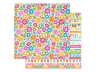 Doodlebug Collection Cute & Crafty Paper 12 in. x 12 in. Painted Posies (25 pieces)