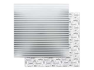 scrapbooking & paper crafts: Doodlebug Collection Hats Off Paper 12 in. x 12 in. Sterling Stripes (25 pieces)