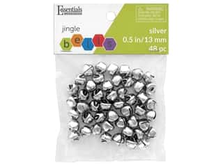craft & hobbies: Essentials By Leisure Arts Bell Jingle 13 mm Silver 48 pc