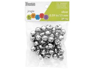 craft & hobbies: Essentials By Leisure Arts Bell Jingle 15 mm Silver 36 pc