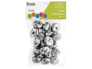 craft & hobbies: Essentials By Leisure Arts Bell Jingle 25 mm Silver 18 pc