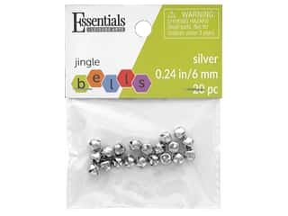 Essentials By Leisure Arts Bell Jingle 6 mm Silver 20 pc