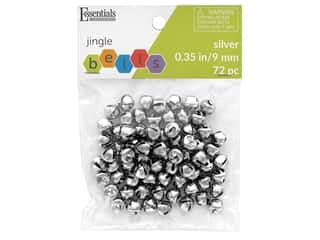 craft & hobbies: Essentials By Leisure Arts Bell Jingle 9 mm Silver 72 pc