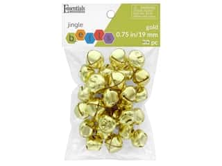 craft & hobbies: Essentials By Leisure Arts Bell Jingle 19 mm Gold 30 pc
