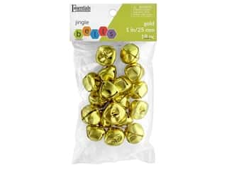 craft & hobbies: Essentials By Leisure Arts Bell Jingle 25 mm Gold 18 pc