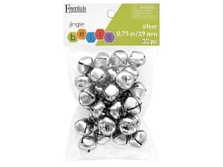 craft & hobbies: Essentials By Leisure Arts Bell Jingle 19 mm Silver 30 pc