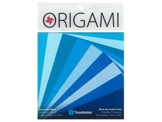 craft & hobbies: Yasutomo Origami Paper Pure Color 5.88 in. Blue 36 pc