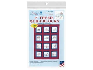 Jack Dempsey 9 in. Theme Quilt Blocks - Trucks for all Seasons