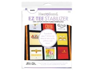 fusible interfacing: Heat n Bond Fusible Interfacing EZTEE Stabilizer 60 in. x 72 in. White