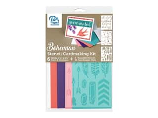 Paper Accents Cardmaking Kit With Stencils Bohemian 31 pc