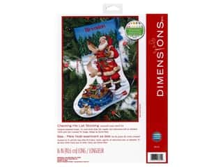 yarn: Dimensions Cross Stitch Kit 16 in. Stocking Checking His List