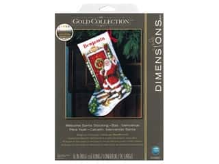 Dimensions Cross Stitch Kit 16 in. Stocking Welcome Santa