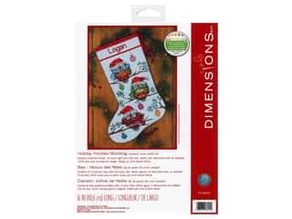 yarn: Dimensions Cross Stitch Kit 16 in. Stocking Holiday Hooties