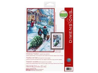 yarn: Dimensions Cross Stitch Kit 9 in. x 14 in. Christmas Tradition