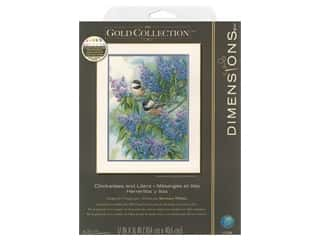 Dimensions Cross Stitch Kit 12 in. x 16 in. Chickadees and Lilacs