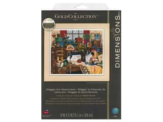"""Dimensions Cross Stitch Kit 14 in. x 12"""" Maggie The Messmaker"""