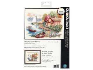 Dimensions Cross Stitch Kit 14 in. x 11 in. Peaceful Lake House
