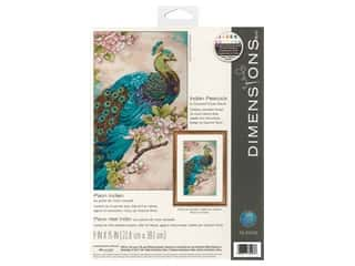 Dimensions Counted Cross Stitch Kit 9 x 15 in. Indian Peacock