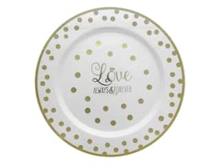 Amscan Collection Premium Wedding Round Plate 10 1/4 in. Love 10 pc