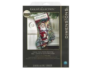 Dimensions Cross Stitch Kit 16 in. Stocking Candy Cane Santa