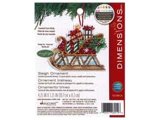 Dimensions Cross Stitch Kit 4 1/4 in. x 3 1/4 in. Susan Winget Ornament Sleigh
