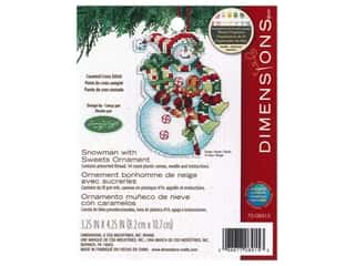 Dimensions Cross Stitch Kit 3 1/4 in. x 4 1/4 in. Susan Winget Ornament Snowman With Sweets