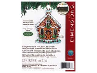 yarn & needlework: Dimensions Cross Stitch Kit 3 1/4 in. x 4 1/4 in. Susan Winget Ornament Gingerbread House