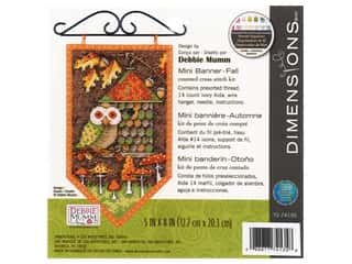 Dimensions Cross Stitch Kit 5 in. x 8 in. Banner Fall