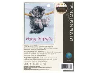 Dimensions Cross Stitch Kit 5 in. x 7 in. Hang On Kitty