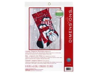 projects & kits: Dimensions Needlepoint Kit 16 in. Stocking Penguin Trio