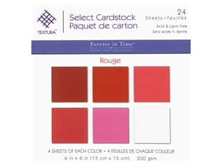 Multicraft Forever In Time Cardstock 6 in. x 6 in. Textura Assorted Rouge 24 pc