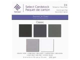 Multicraft Forever In Time Cardstock 6 in. x 6 in. Textura Assorted Classic 24 pc