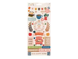 American Crafts Collection Paige Evans Bungalow Lane Sticker Sheet 6 in. x 12 in. Copper Foil